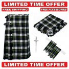46 size dress gordon  Men's Scottish Traditional Tartan Kilt and Accessories Package