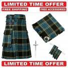 42 size Anderson Scottish Utility Tartan Kilt Package Kilt-Flyplaid-Flashes-Kilt Pin-Brooch