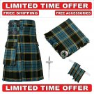 54 size Anderson Scottish Utility Tartan Kilt Package Kilt-Flyplaid-Flashes-Kilt Pin-Brooch