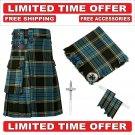 60 size Anderson Scottish Utility Tartan Kilt Package Kilt-Flyplaid-Flashes-Kilt Pin-Brooch