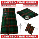 42 size rose Hunting  Scottish Utility Tartan Kilt Package Kilt-Flyplaid-Flashes-Kilt Pin-Brooch
