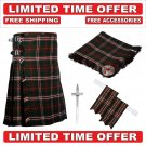 30 size Hunting Scott  Scottish Utility Tartan Kilt Package Kilt-Flyplaid-Flashes-Kilt Pin-Brooch