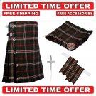 60 size Hunting Scott  Scottish Utility Tartan Kilt Package Kilt-Flyplaid-Flashes-Kilt Pin-Brooch