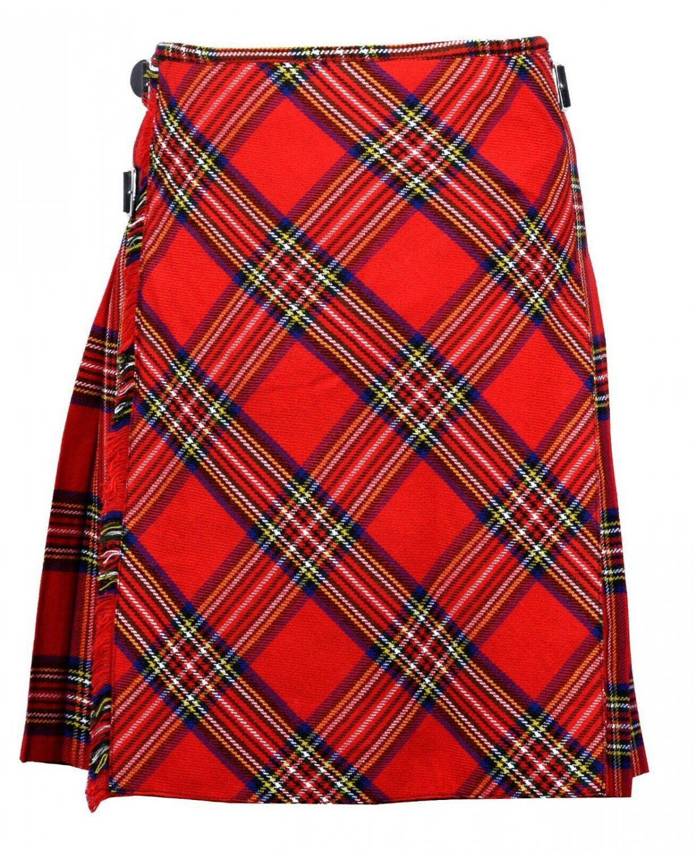 40 size Royal Stewart Bias Apron Traditional 5 Yard Scottish Kilt for Men