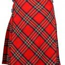 46 size Royal Stewart Bias Apron Traditional 5 Yard Scottish Kilt for Men