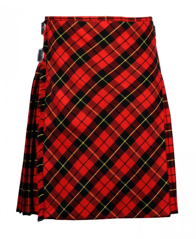 42 size Wallace tartan Bias Apron Traditional 5 Yard Scottish Kilt for Men