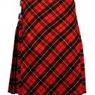54 size Wallace tartan Bias Apron Traditional 5 Yard Scottish Kilt for Men