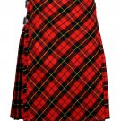 56 size Wallace tartan Bias Apron Traditional 5 Yard Scottish Kilt for Men