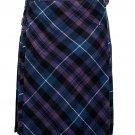 52 size pride of Scotland tartan Bias Apron Traditional 5 Yard Scottish Kilt for Men