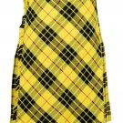32 size Macleod of Lewis tartan Bias Apron Traditional 5 Yard Scottish Kilt for Men