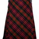 30 size Macdonald tartan Bias Apron Traditional 5 Yard Scottish Kilt for Men