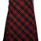 32 size Macdonald tartan Bias Apron Traditional 5 Yard Scottish Kilt for Men