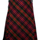 34 size Macdonald tartan Bias Apron Traditional 5 Yard Scottish Kilt for Men