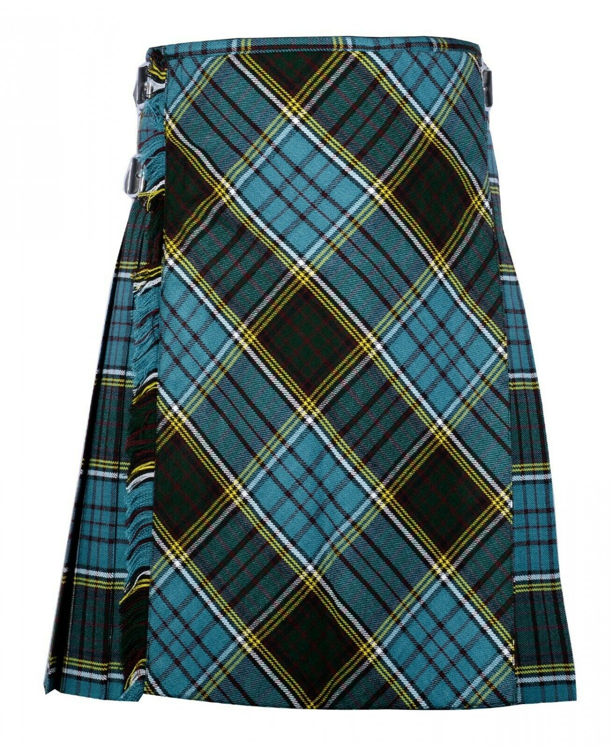 52 size Anderson tartan Bias Apron Traditional 5 Yard Scottish Kilt for Men