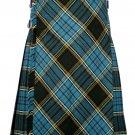 54 size Anderson tartan Bias Apron Traditional 5 Yard Scottish Kilt for Men