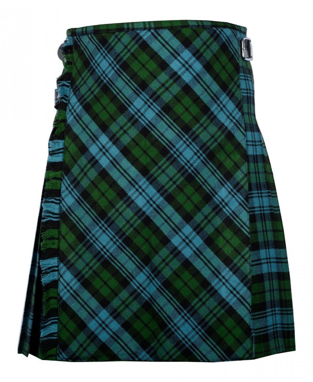42 size Campbell Ancient tartan Bias Apron Traditional 5 Yard Scottish Kilt for Men