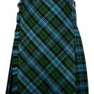 56 size Campbell Ancient tartan Bias Apron Traditional 5 Yard Scottish Kilt for Men