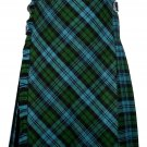 58 size Campbell Ancient tartan Bias Apron Traditional 5 Yard Scottish Kilt for Men