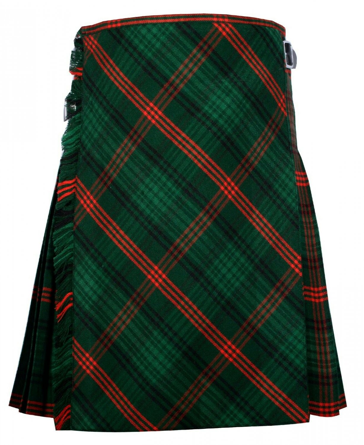 42 size Rose Hunting tartan Bias Apron Traditional 5 Yard Scottish Kilt for Men