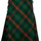 60 size Rose Hunting tartan Bias Apron Traditional 5 Yard Scottish Kilt for Men