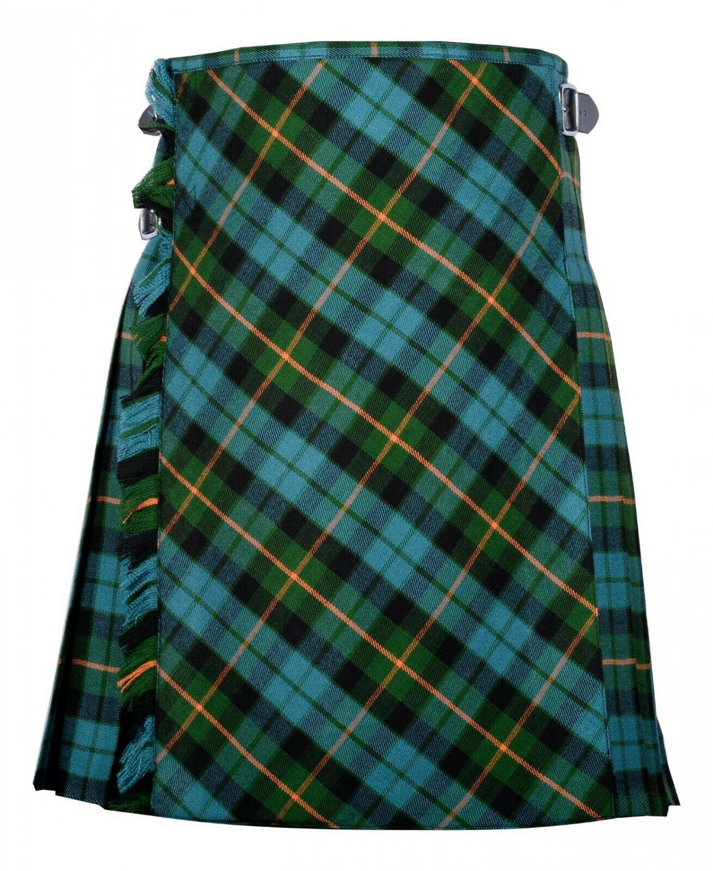 38 size Gunn Ancient tartan Bias Apron Traditional 5 Yard Scottish Kilt for Men