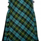 58 size Gunn Ancient tartan Bias Apron Traditional 5 Yard Scottish Kilt for Men