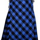 34 size Buffalo tartan Bias Apron Traditional 5 Yard Scottish Kilt for Men