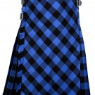 44 size Buffalo tartan Bias Apron Traditional 5 Yard Scottish Kilt for Men