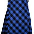 54 size Buffalo tartan Bias Apron Traditional 5 Yard Scottish Kilt for Men