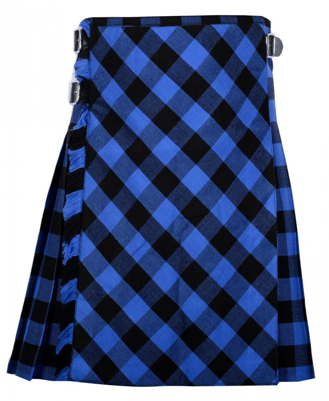 56 size Buffalo tartan Bias Apron Traditional 5 Yard Scottish Kilt for Men