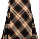 34 size Rose Ancient tartan Bias Apron Traditional 5 Yard Scottish Kilt for Men