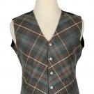 44 Size Mackenzie Weathered Biased Pattern 5 Buttons Tartan Waistcoat / Kilt Vest For Men