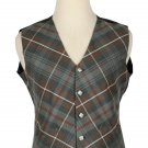 48 Size Mackenzie Weathered Biased Pattern 5 Buttons Tartan Waistcoat / Kilt Vest For Men
