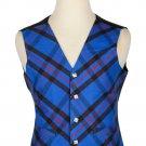 44 Size Elliot Modern Biased Pattern 5 Buttons Tartan Waistcoat / Kilt Vest For Men