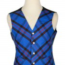 52 Size Elliot Modern Biased Pattern 5 Buttons Tartan Waistcoat / Kilt Vest For Men