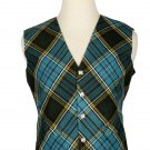 44 Size Anderson Biased Pattern 5 Buttons Tartan Waistcoat / Kilt Vest For Men