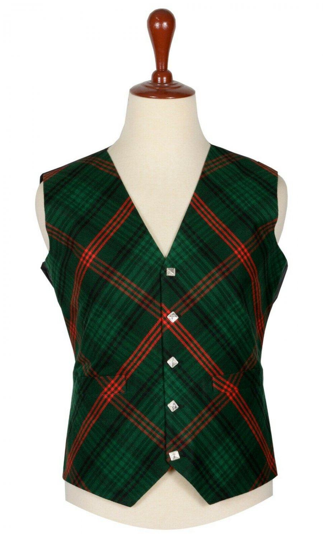42 Size Rose Hunting  Biased Pattern 5 Buttons Tartan Waistcoat / Kilt Vest For Men