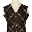 44 Size Hunting Scott Biased Pattern 5 Buttons Tartan Waistcoat / Kilt Vest For Men