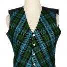 46 Size Ancient Campbell Biased Pattern 5 Buttons Tartan Waistcoat / Kilt Vest For Men