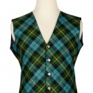 38 Size Gun Ancient Biased Pattern 5 Buttons Tartan Waistcoat / Kilt Vest For Men