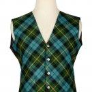54 Size Gun Ancient Biased Pattern 5 Buttons Tartan Waistcoat / Kilt Vest For Men