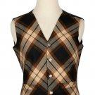 38 Size Rose Ancient Biased Pattern 5 Buttons Tartan Waistcoat / Kilt Vest For Men