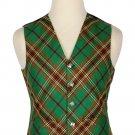 52 Size Tara Murphy Biased Pattern 5 Buttons Tartan Waistcoat / Kilt Vest For Men
