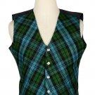 36 Size Campbell Ancient Biased Pattern 5 Buttons Tartan Waistcoat / Kilt Vest For Men