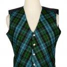 52 Size Campbell Ancient Biased Pattern 5 Buttons Tartan Waistcoat / Kilt Vest For Men