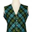 46 Size Gunn Ancient Biased Pattern 5 Buttons Tartan Waistcoat / Kilt Vest For Men