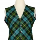 52 Size Gunn Ancient Biased Pattern 5 Buttons Tartan Waistcoat / Kilt Vest For Men