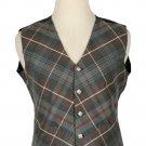 42 Size Mackenzie weathered Biased Pattern 5 Buttons Tartan Waistcoat / Kilt Vest For Men