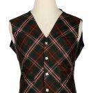 40 Size Hunting Scott Biased Pattern 5 Buttons Tartan Waistcoat / Kilt Vest For Men