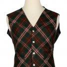 52 Size Hunting Scott Biased Pattern 5 Buttons Tartan Waistcoat / Kilt Vest For Men